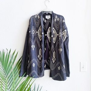 lucky brand bliss / embroidered tribal cardigan S